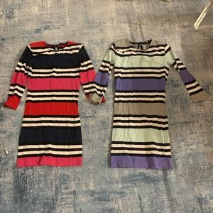 French connection bodycon striped dresses